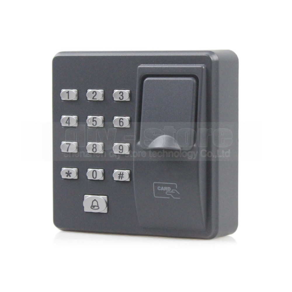 DIYSECUR Biometric Fingerprint Access Control Machine Digital Electric RFID Reader Code Password Keypad System for Door Lock biometric standalone access control rfid access control for building management system
