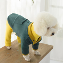 OnnPnnQ Pet Dog Knit Sweater Cat Warm Winter Classic Sweaters Knitted For Small Dog Two Foot Outerwear Soft Puppy Clothes Poodle(China)