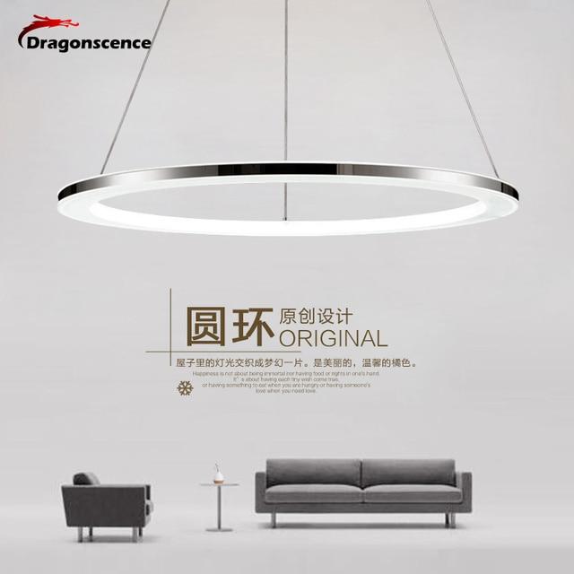 Modern led pendant lights Remote Circle ring pendant lamp abajour luminaria luster for dining living room bedroom kitchen salon