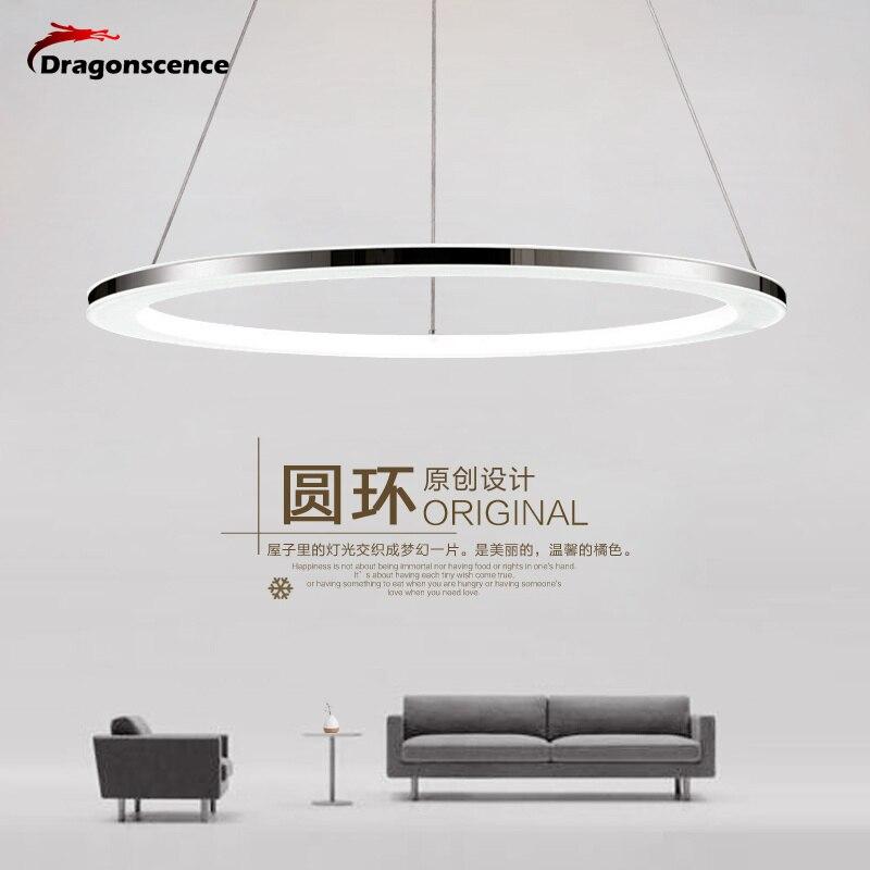 Moderne pendentif led lumières à distance cercle anneau pendentif lampe abajour luminaria lustre pour salle à manger salon chambre cuisine salon