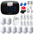 Free shipping Original KERUI G19 TFT color Screen Wireless GSM Home Alarm System SIM Card Phone SMS Alarm Security
