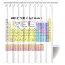 Popular periodic table shower curtain free shipping buy cheap cozybath periodic table waterproof polyester fabric 60w x 72h shower curtain and hooks urtaz Image collections
