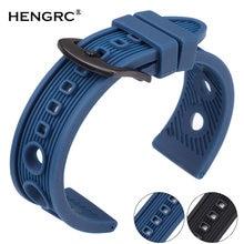 Ремешок резиновый силиконовый для часов мягкий спортивный браслет