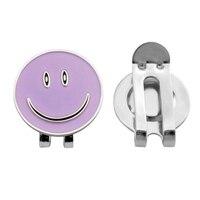 Alloy Smile Face magnetyczna piłka golfowa Marker Clip On czapka golfowa Visor prezent fioletowe akcesoria do golfa dla przyjaciół rodzin grających w grę w Znaki od Sport i rozrywka na