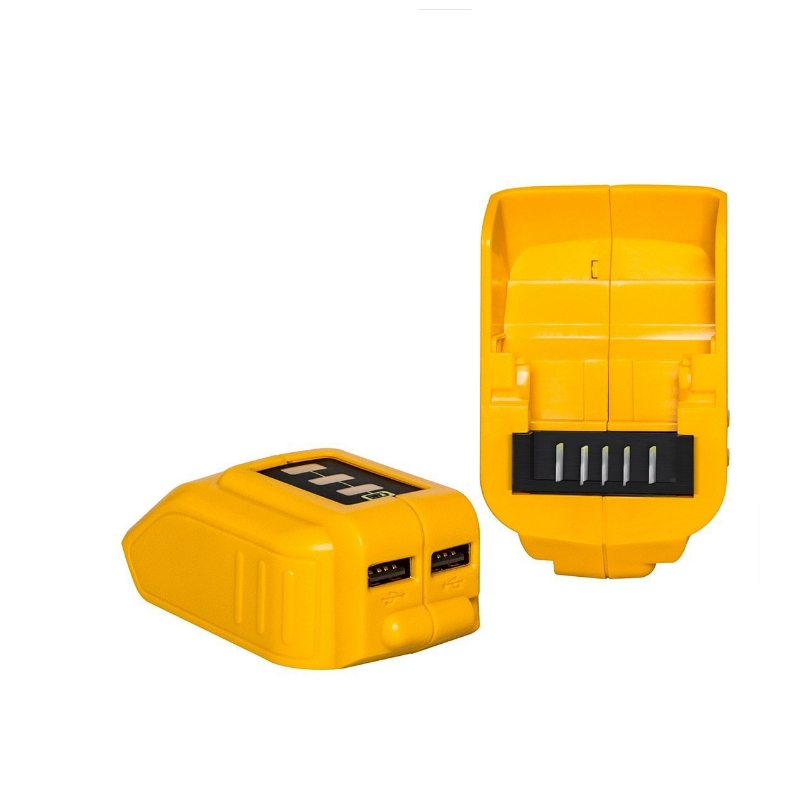 High quality <font><b>DCB090</b></font> 12V/20V Max USB Power Source for Dewalt Cordless Power USB Charger Compatible With Electronic Devices image