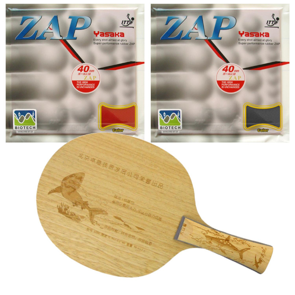 все цены на Pro Table Tennis PingPong Combo Racket  Xi EnTing Shark X686 Blade with 2x Yasaka ZAP-40mm NO ITTF Rubbers Long shakehand FL онлайн