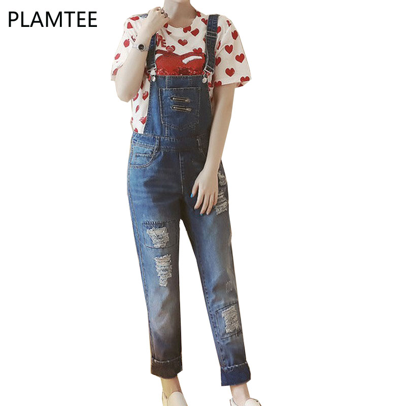 PLAMTEE Maternity Clothes Hole Pregnancy Jumpsuits For Pregnant Ladies Plus Size Overalls Casual Belly Care 2017 Summer Fashion denim overalls for pregnant women maternity pregnancy jeans overalls pants maternity denim jumpsuit maternity pants clothes y696