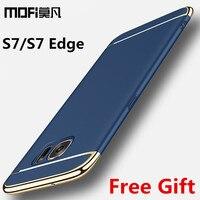For Samsung Galaxy S7 Edge Case Hard MOFi Coque For Samsung S7 Edge Case Luxury Gold