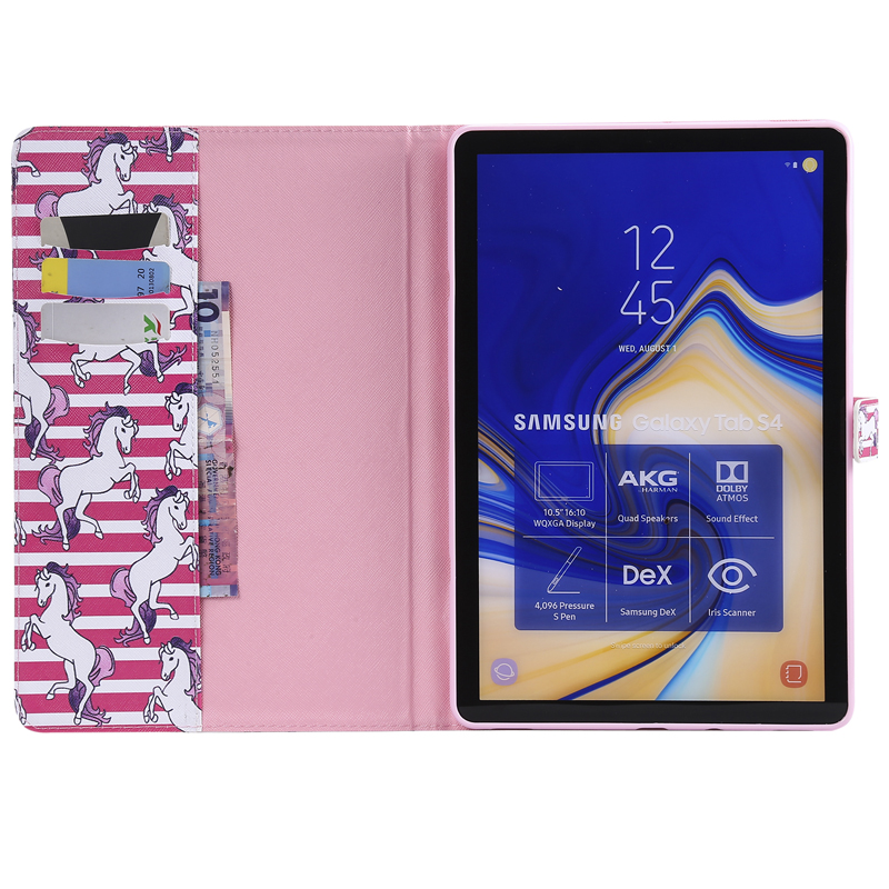 Luxury Horse Print Leather Magnetic Flip Wallet Tablet Case Cover Bag Coque Funda For Samsung Galaxy Tab S4 10 5 SM T830 SM T835 in Tablets e Books Case from Computer Office