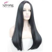 StongBeauty 26 cali damska peruka długie proste syntetyczne przebranie na karnawał peruki do włosów wybór kolorów