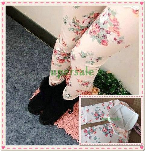 Women's best love 2014 Korean fashion leggings women Denim Leggings BLack Roses Slim thin - China's largest production plant of bags store