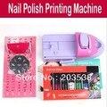 DIY Prego stamping máquina de impressão Art Cores Desenho polonês Impressora Do Prego + 7 x Attractive unha polonês com caixa de varejo