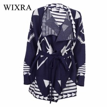 Wixra Warm and Charm Tibet Pattern Cardigans Sweaters Women Autumn Winter Fashion Knitted Cardigan Outwear Coats