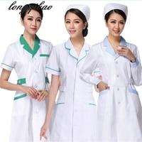 women or men white Medical Coat Clothing Medical Services Uniform Nurse Clothing Long sleeve Polyester Protect lab coats Cloth