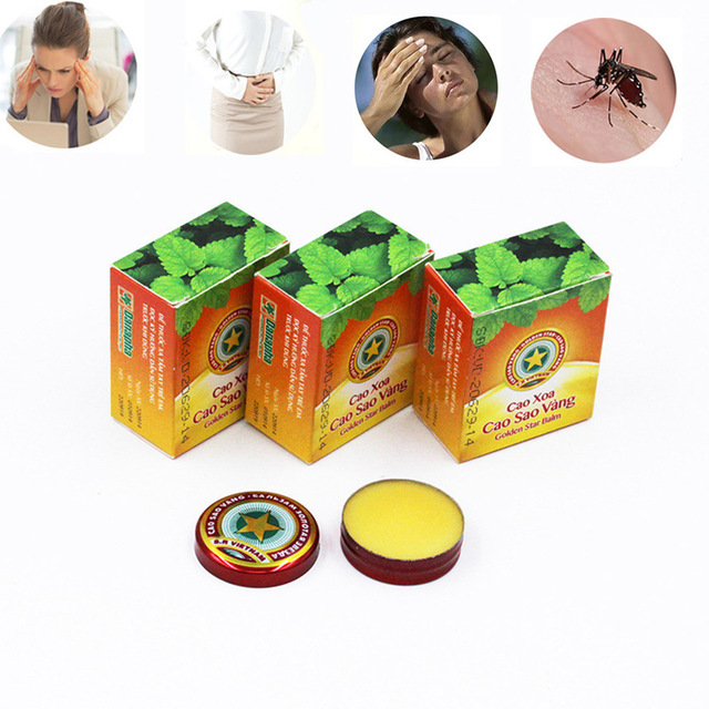 3PCS Vietnam Gold Tower Tiger Balm Ointment For Cold Headache Stomachache Dizziness Heat Stroke Insect Stings Essential Balm