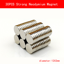 30pcs 12 x 2mm N35 Mini Small Disc Round Super Strong Powerful Rare Earth Neodymium Magnets