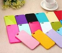 100 шт Оптовая Продажа 16 карамельных цветов чехол для iPhone 4 4S 5 5S se 5c 6 6s 6plus 7 7 plus чехлы из ТПУ силикона каркаса Capinha