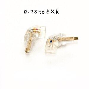 Image 2 - Livraison gratuite Haldane paire prise casque pour EX600 EX800 EXK EX1000 mâle vers MMCX 0.78 mmfemelle convertisseur adaptateur