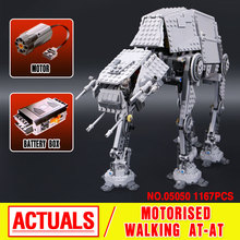 NEW 1137pcs Lepin 05050 Star War Series AT-AT the Robot Electric Remote Control Building Blocks Toys Compatible with 10178