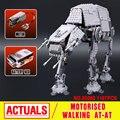 NOVA 1137 pcs Lepin 05050 Star Series Guerra AT-AT o Robô de Controle Remoto Elétrico Building Blocks Brinquedos Compatível com 10178