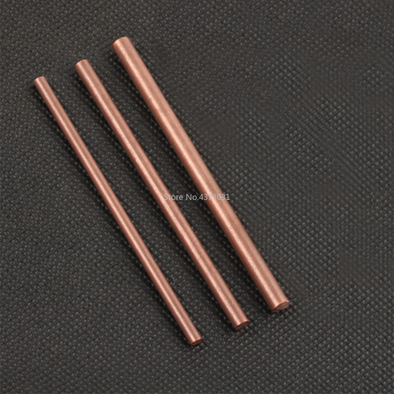 2pcs 4-6mm Hand-done Copper Bar Rod 100mm Stick For Knife Handle Part Diy Toys Accessories