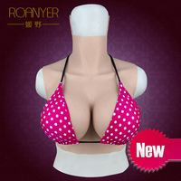Roanyer transgender silicone huge boobs crossdressing G Cup fake breast forms for drag queen shemale crossdresser