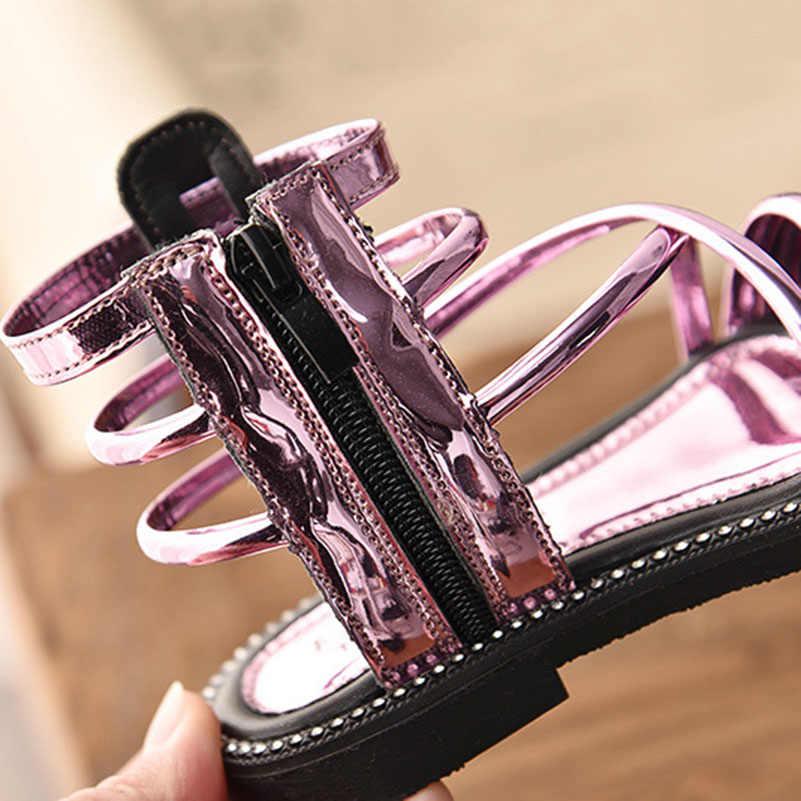 Yaz Çocuk Kız Roma Yüksek top Çizmeler Sandalet Yürümeye Başlayan Serin Botlar Sandalet Moda Çocuklar Yumuşak Taban açık ağızlı plaj ayakkabısı sıcak