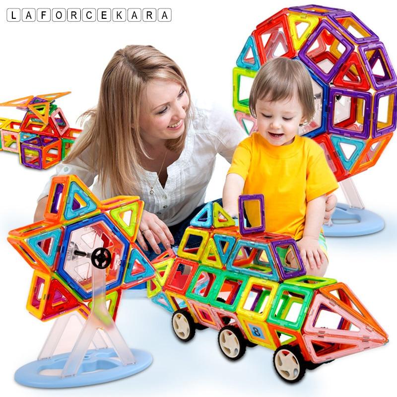 Brand Mini Magnetic Designer Construction Set Model&Building Toy 164pcs-64pcs Plastic Magnetic Blocks Educational Toys Kid стоимость