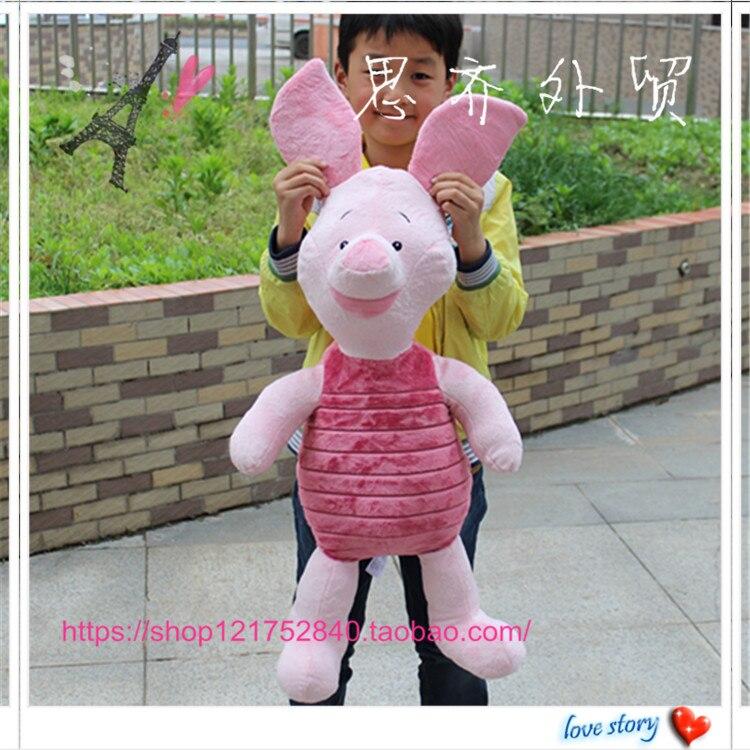 free shipping 1pcs 70cm big size huge piglet plush kids stuffed animals pig children gifts in. Black Bedroom Furniture Sets. Home Design Ideas