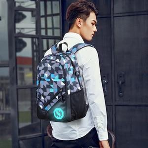 Image 5 - 2020 New Graffiti School Backpacks Men Fashion Students School Bags For Teenage Girls Boys Luminous Men Backpacks Travel Mochila