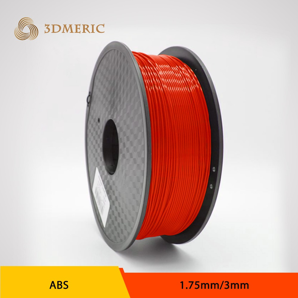 1.75mm / 3mm ABS/PLA PlasticFilament 1kg/2.2lb for 3D-Printer, RED, BLUE, WHITE, GREEN, BLACK, PURPLE, ORANGE, YELLOW with spool