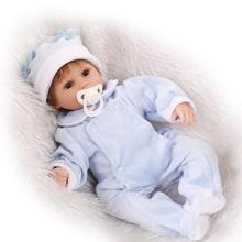 17 Polegadas de silicone bebê reborn bonecas 45 CM handmade lifelike Boneca Chupeta bebe recém-nascidos bebês Boneca Meninas Presentes bonecas brinquedos