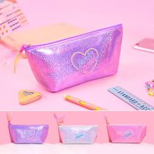 Ins Harajuku Pailletten Cosmetische Cases Katoen Vrouwen Make up Bag Girly Hart Korea Japan Handtas Pouch Student Etui Bentoy(China)
