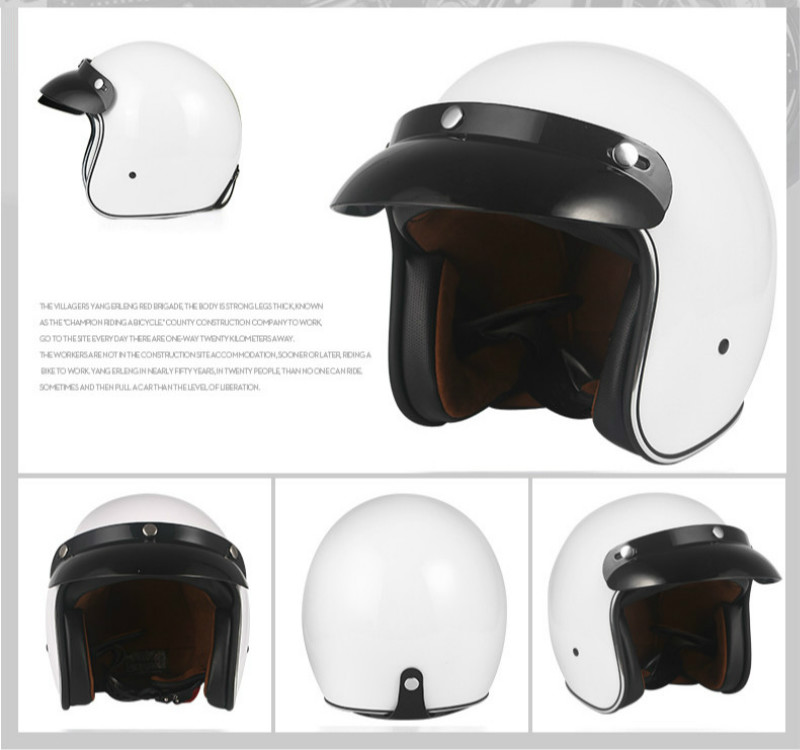 Image 4 - Helmets for Cross country Motorcycles Sunscreen Locomotives Half helmets Four season Electric Vehicle Safety Helmet-in Helmets from Automobiles & Motorcycles