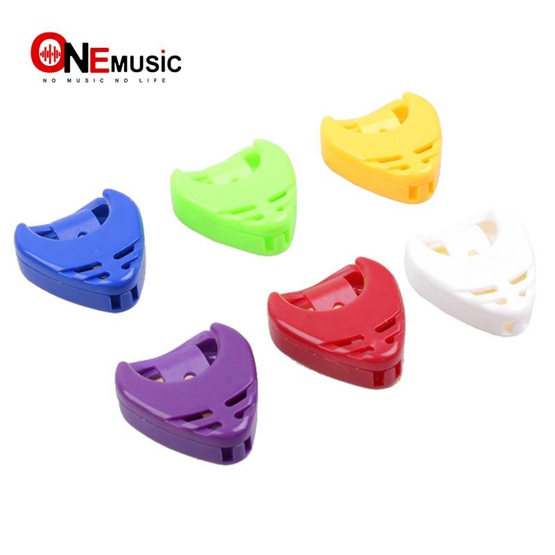 3 Pcs Colorful Plastic Guitar Plectrum Heart Shape Pick Holder Guitar Pick Case Guitar Accessories