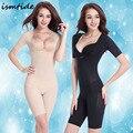 Mulheres emagrecimento underwear body shaper anti-celulite calções trem cintura barriga emagrecimento bainha aberta virilha manga curta shaper