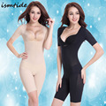 Women Slimming Underwear Body Shaper Anti-cellulite Breeches Waist Train Belly Slimming Sheath Open Crotch Short Sleeve Shaper