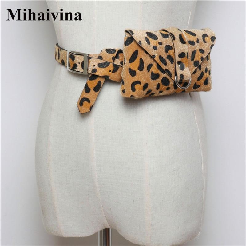 Mihaivina High-quality Waist Packs Women Fanny Pack Leopard Waist Belt Bag Travel Waist Pack Small Phone Pouch Bags Wholesale