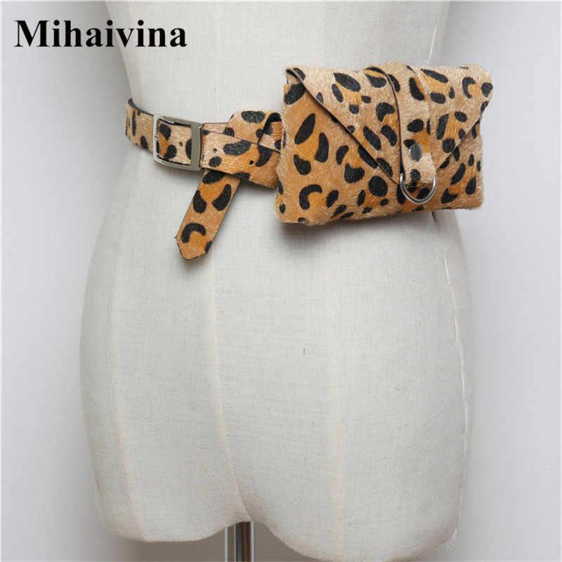 Mihaivina 高品質ウエストパック女性ファニーパックヒョウウエストベルトバッグパック小さな電話ポーチバッグ卸売