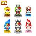 LOZ Diamante de Construção de Blocos de Brinquedo Brinquedos Olá Kitty Série Animal Bonito Anime Figuras Modelos Hobbies Offical Distribuidor Autorizado