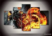 Home Decor Printed Ghost Rider Painting Canvas Print Room Decor Print Poster Picture Canvas Free Shipping/Y023 Movie Rectangle