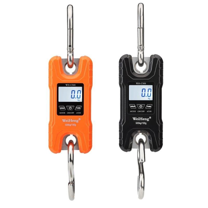 Mini échelle de grue Portable 500 kg balances suspendues numériques résistantes affichage LCD avec rétro-éclairage pour la pêche au marché de la ferme à domicile