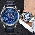 BENYAR Mannen Horloge Waterdicht Quartz Sport Horloge voor Mannen Blauwe Wijzerplaat Business Horloge Mannelijke Klok hodinky relogio masculino saat