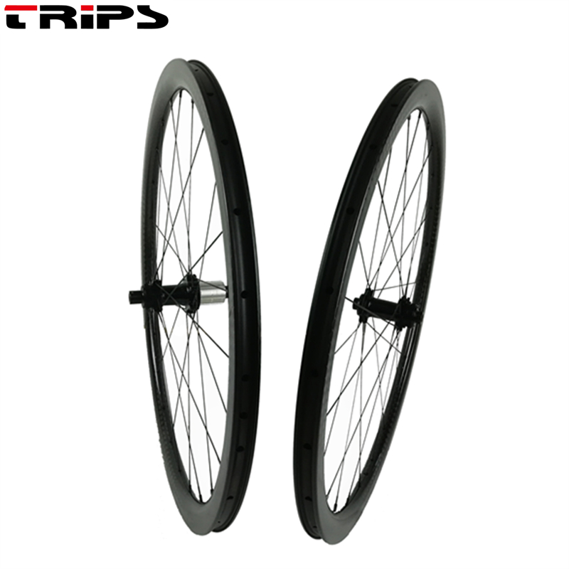 700C 38 50 60 88mm Clincher disc carbon road wheels Cyclocross Wheels center lock not brake