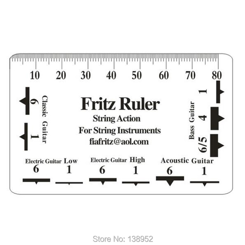 graphic regarding String Action Gauge Printable called US $6.11 49% OFF2computers/great deal Guitar B Frets String Pitch Ruler Fritz Ruler String Step Card Vernier Caliper-within Gauges against Resources upon