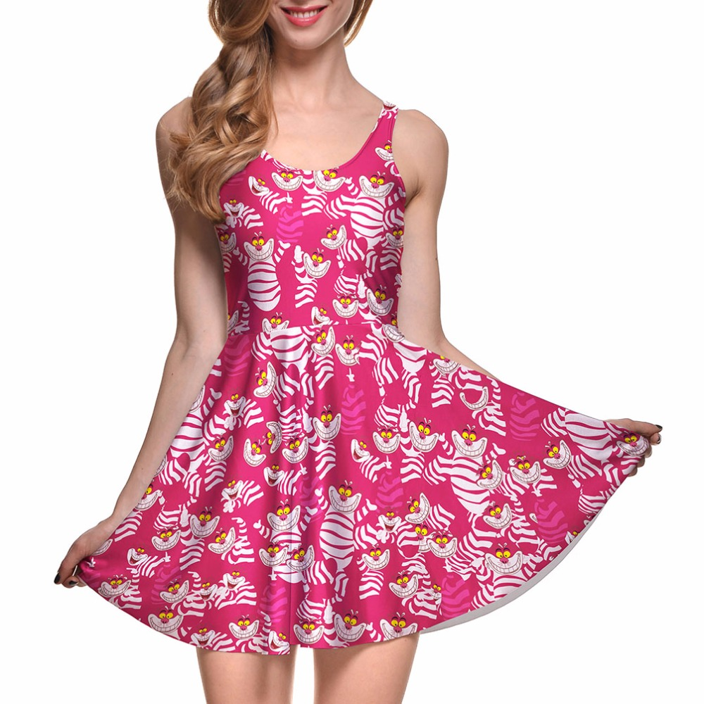 NEW 1048 Sexy Girl Women Summer Alice in Wonderland Cheshire cat 3D ...