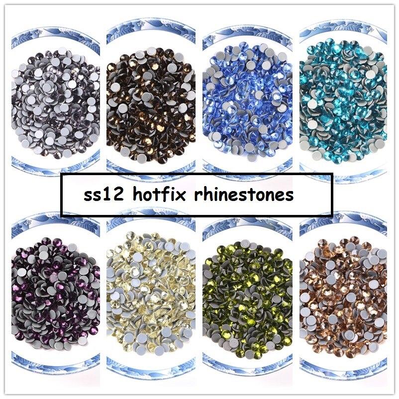 Grand sac couleurs normales SS12 haute qualité 12 coupes Hot Fix strass pour vêtements bricolage