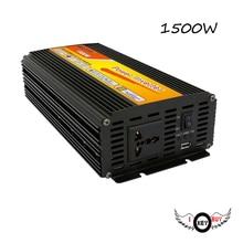 цена на I Key Buy 1PC High Quality High-Power 12V To 220V 1500W Correction Wave Car Power Inverter DC-AC Booster Home Intelligence