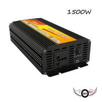 I Key Buy 1PC High Quality High Power 12V To 220V 1500W Correction Wave Car Power Inverter DC AC Booster Home Intelligence