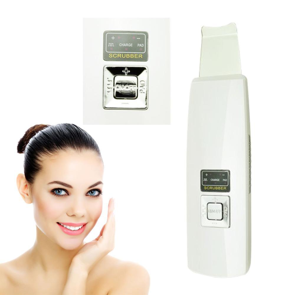 100% High Quality Rechargeable Ultrasonic Ion Skin Scrubber Microdermabrasion Facial Massager Spa+ high quality precision skin analyzer digital lcd display facial body skin moisture oil tester meter analysis face care tool